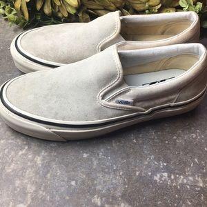 Vans Suede Slip On Sneakers Unisex M sz 8 W 9.5